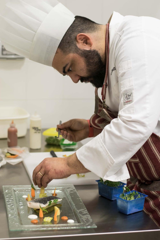 Chef Gabriele Piscitelli in preparazione